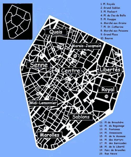 Serrurier Ville de Bruxelles Serrurier Bruxelles - Plan de Bruxelles